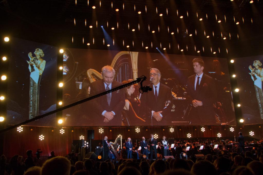 FMF All is Film Music Gala - Howard Shore receiving Kilar award